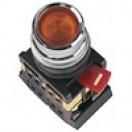 Кнопка ABLF-22 НО/НЗ (желтая) IEK (10)