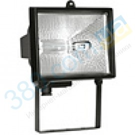 Прожектор галогенный ИО 500 черный IP54 IEK (1)