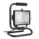 Прожектор галогенный ИО 150П переносной черный IP54 IEK (1)