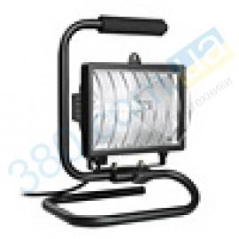 Прожектор галогенный ИО 500П переносной черный IP54 IEK (1)