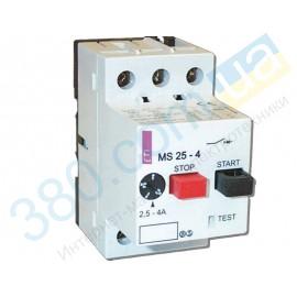 Автомат захисту двигуна ETI MS25-0,4 (4600030)