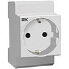Розетка на DIN-рейку РАр10-3-ОП + Z  IEK (5)
