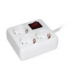 Подовжувач У-С03К з вимикачем 3 гнізда 2Р + Е/3м 3х1мм 16А/250В ІЕК