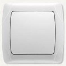 90561001 Выключатель одноклавишный Vi-ko (Carmen) белый