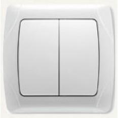 90561002 Выключатель двухклавишный Vi-ko (Carmen) белый