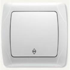 90561004 Выключатель одноклавишный проходной Vi-ko (Carmen) белый