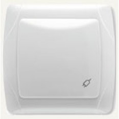 90561012 Розетка с крышкой и заземлением Vi-ko (Carmen) белая