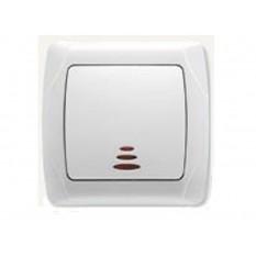 90561014 Выключатель таймер подсветкой Vi-ko (Carmen) белый