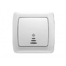 90561027 Выключатель звонка с подсветкой Vi-ko (Carmen) белый