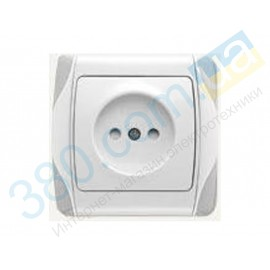 90561043 Розетка с защитными шторками Vi-ko (Carmen) белая