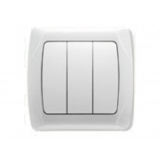 90561068 Выключатель трехклавишный Vi-ko (Carmen) белый