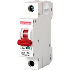 Автоматический выключатель e.industrial.mcb.100.1.C10, 1р, 10А, C, 10кА