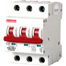 Автоматический выключатель e.industrial.mcb.100.3.C10, 3р, 10А, C, 10кА