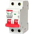 Автоматический выключатель e.mcb.stand.45.2.C40, 2р, 40А, C, 4.5кА