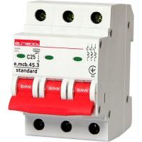 Автоматичний вимикач e.mcb.stand.45.3. C16, 3р, 16A, С, 4.5kA