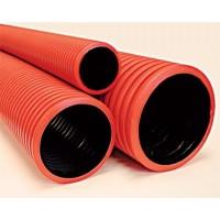 Труба для подземной прокладки кабеля 90мм с протяжкой в комплекте с муфтой ДКС 121990