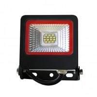 Прожектор черный с радиатором LED SMD 10W 6500К 900Lm EUROLAMP LED-FL-10(black)new