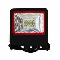 Прожектор черный с радиатором LED SMD 20W 6500К 1800Lm  EUROLAMP LED-FL-20(black)new