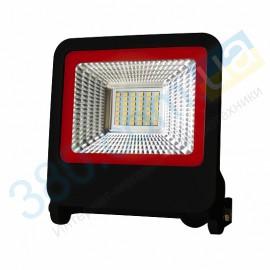 Прожектор черный с радиатором LED SMD 30W 6500К 2700Lm EUROLAMP LED-FL-30(black)new