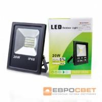 Прожектор светодиодный EVRO LIGHT EV-20-01 STAND 20W 180-260V 6400K 1400Lm SMD НМ