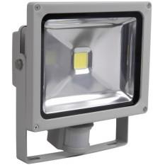 Прожектор СДО 05-10Д (детектор) светодиодный серый SMD IP44 IEK (1)