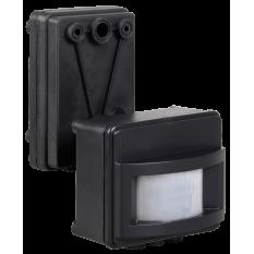 Датчик движения ДД 017 черный 1100Вт, угол обзора 120град., дальность 12м, IP44, IEK (1)