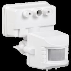 Датчик движения ДД 019 белый 1100Вт, угол обзора 120град., дальность 12м, IP44, IEK (1)