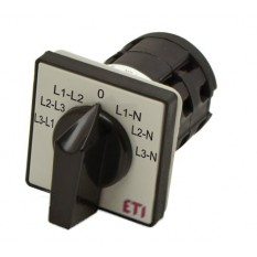 4773089 Переключатель д/измер. фазного и линейн. напряжений CS 16 66 U 16А серо-черный ETI(Словения)