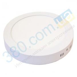 Светильник круг накладной матовый LED 12W 4000K EUROLAMP LED-NLR-12/4(F)