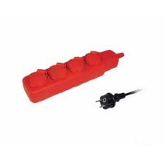 Удлинитель У04В 4 места с защитными крышками 2Р+PE/5метров 3х1мм2 16А/250В IEK (1)
