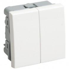 Вимикач прохідний (перемикач) двухклавішний на 2 модуля ВК4-22-00-П ІЕК